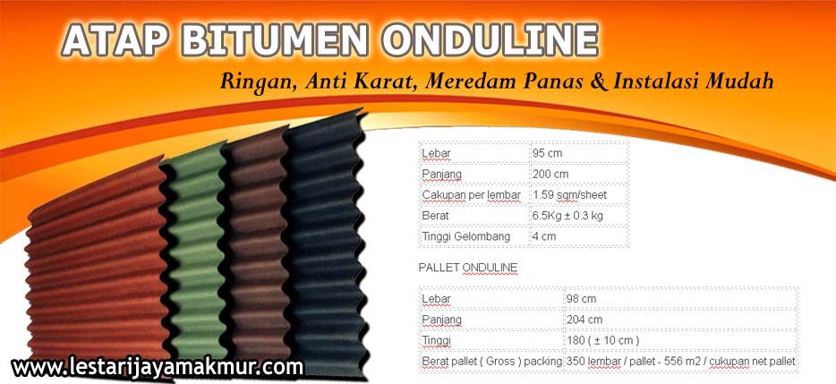 spesifikasi dan harga atap bitumen onduline