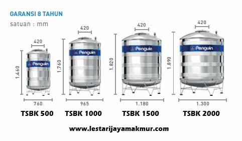 tangki air penguin stainless steel water tank