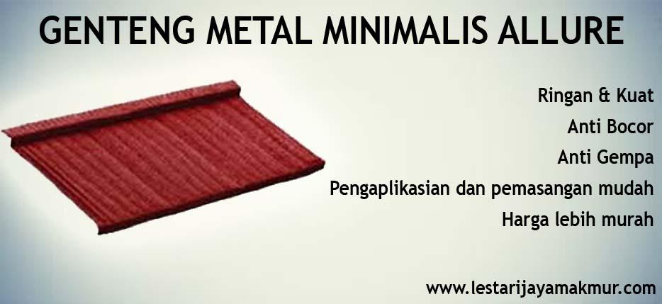 spesifikasi dan harga genteng metal minimalis allure