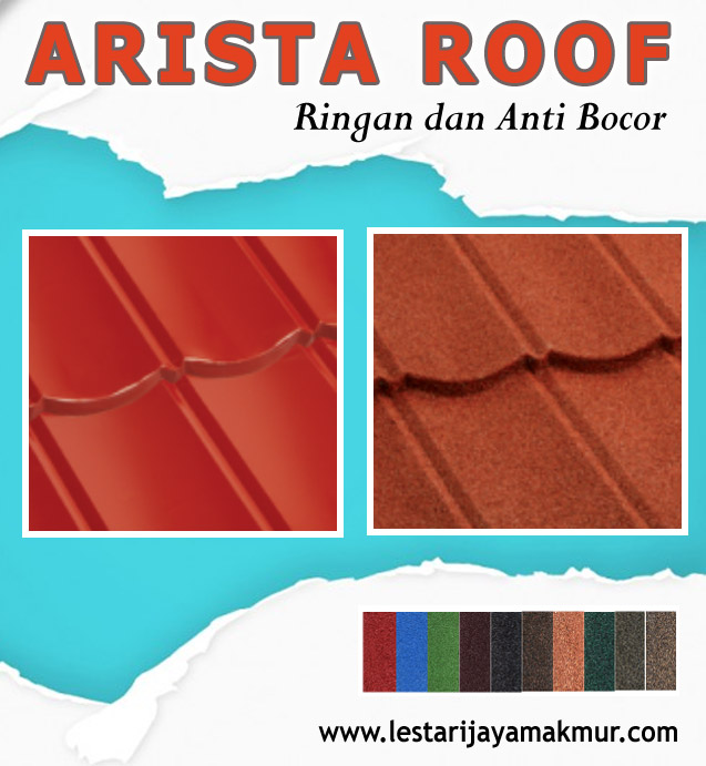 harga genteng metal arista roof