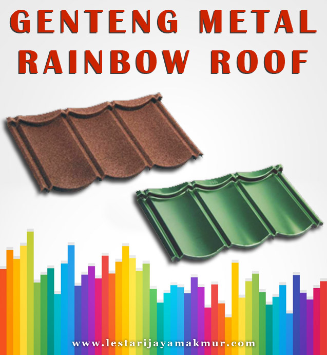harga genteng metal rainbow roof