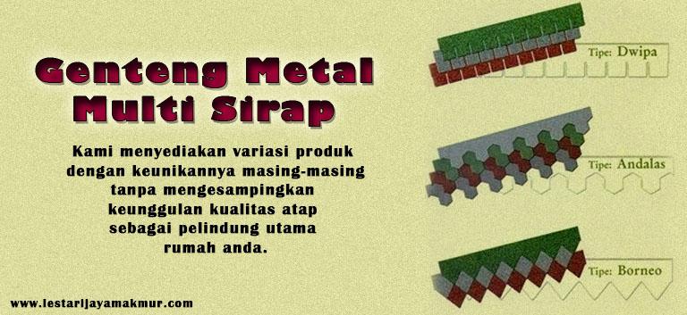 harga genteng metal multi sirap