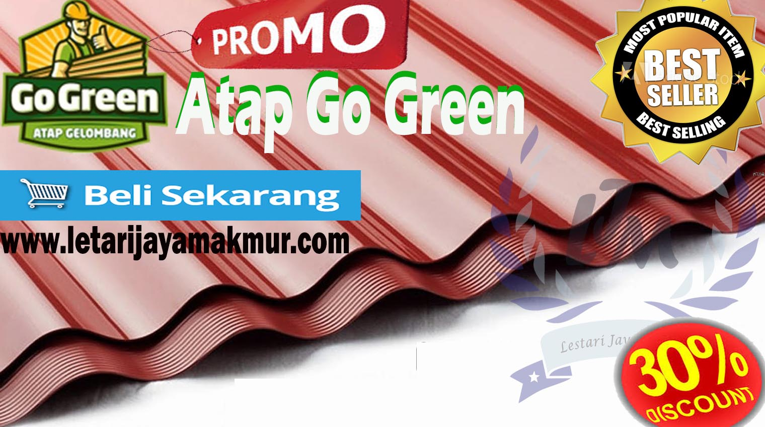 harga atap go green terbaru