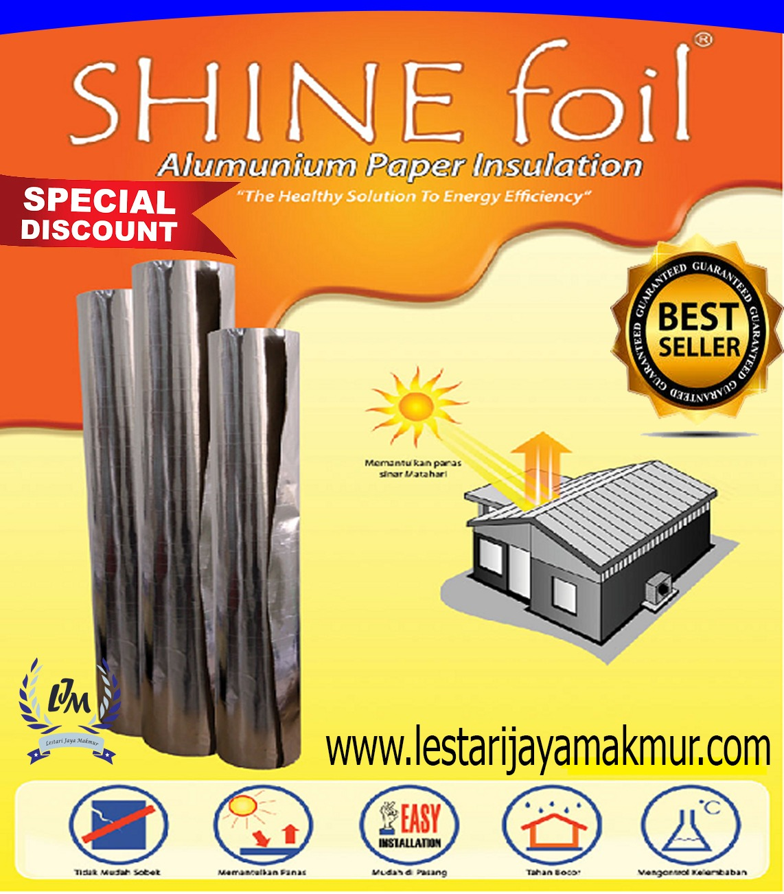 harga insulation shine foil